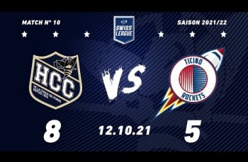 Embedded thumbnail for HC La Chaux-de-Fonds – HCB Ticino Rockets (8-5)