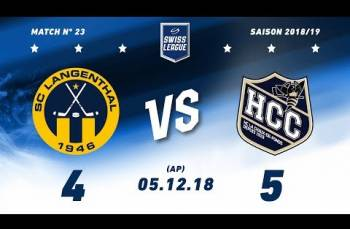 Embedded thumbnail for SC Langenthal - HC La Chaux-de-Fonds (4-5) AP