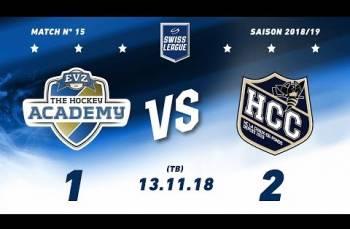 Embedded thumbnail for EVZ Academy - HC La Chaux-de-Fonds (1-2) TB
